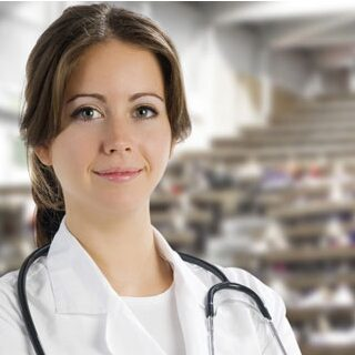 A female doctor